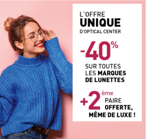 L'offre unique d'Optical Center