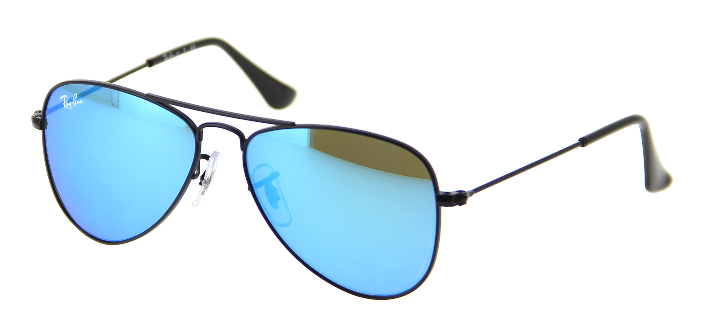 lunettes de soleil ray ban junior rj 9506s 201 55 50 13 enfant noir aviateur cercl e vintage. Black Bedroom Furniture Sets. Home Design Ideas