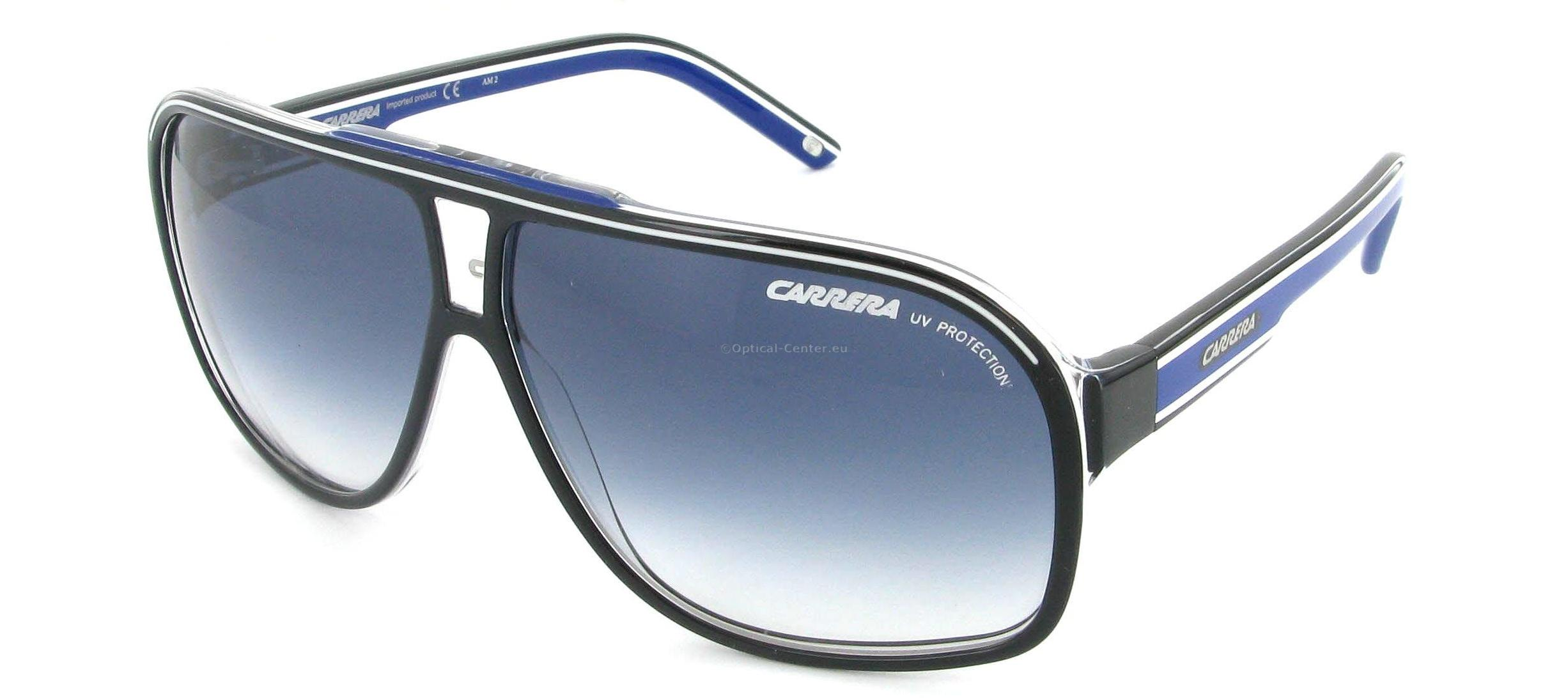 content lunette carrera bleu